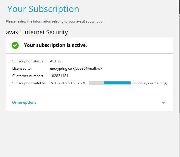 avast internet security premier key