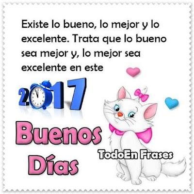 Imagenes De Buenos Dias Con Mensajes Bonitos Para El Año Nuevo 2017