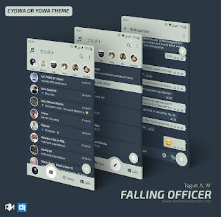 Falling Officer