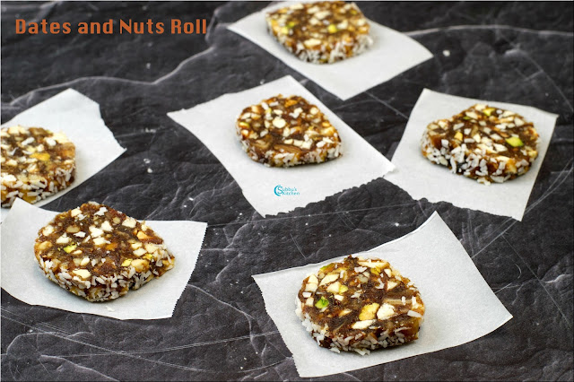 Dates and Nuts Roll | Khajur Roll
