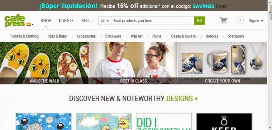 3 páginas para vender online tus diseños de camisetas - El ... 7d64ea9351526