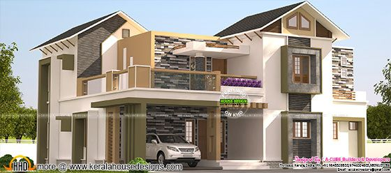 Mixed roof 4 bedroom home in 3008 sq-ft