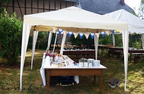 Gartenparty zum Geburtstag Dekoration