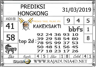 Prediksi Togel HONGKONG DUNIA4D 31 MARET 2019