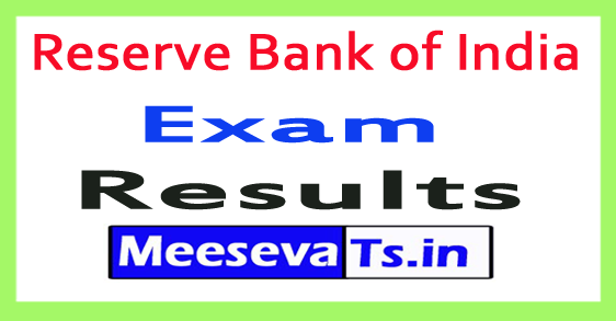 Reserve Bank of India RBI Exam Result