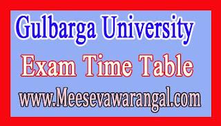 Gulbarga University M.B.A IIIrd Sem Dec 2016 Exam Time Table