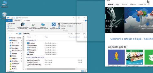 Come mostrare su schermo 2 o più finestre in Windows 10
