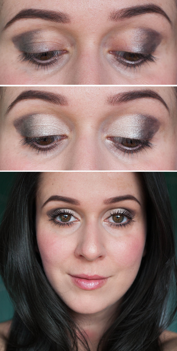 cool-toned ombre makeup look