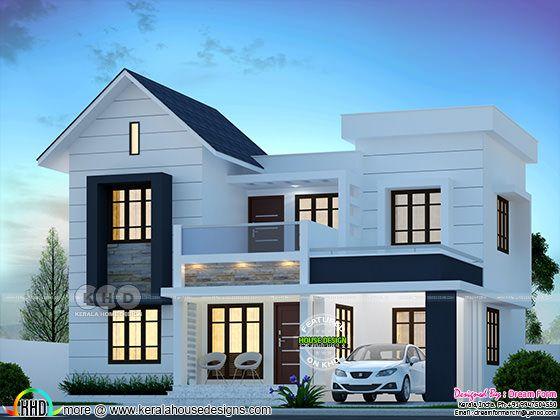 4 Bedroom 1750 Sq Ft Modern Home Design Kerala Home
