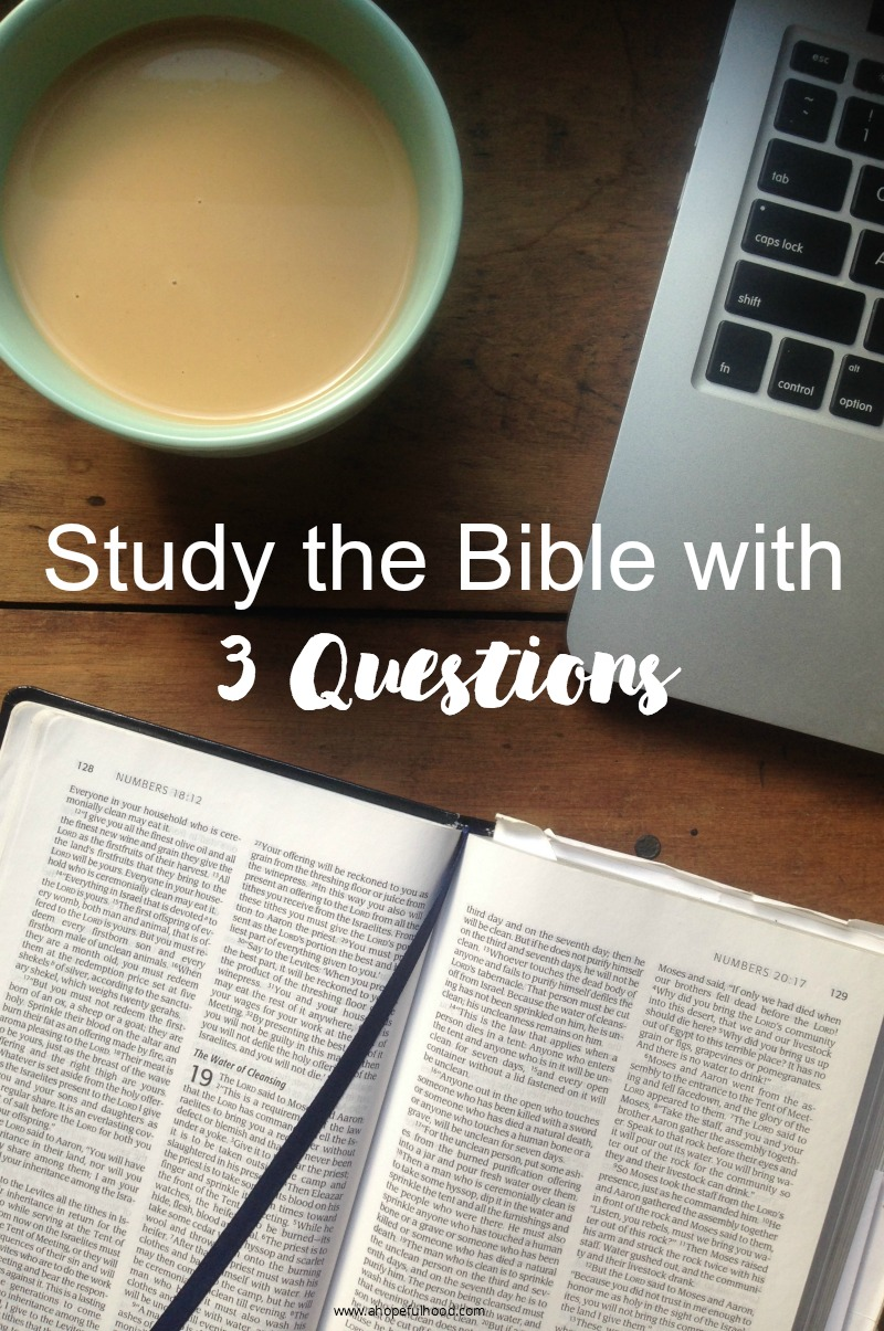 3 simple questions to guide your Bible-reading // via @ahopefulhood