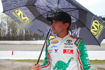 Michael Self Goes Singing in the Rain to Victory Lane in Salem  #arca