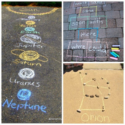 Summer Sidewalk Chalk Ideas for Kids