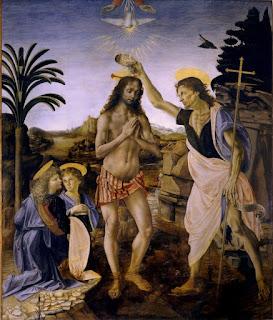 El Bautismo de Jesucristo en el Jordán.