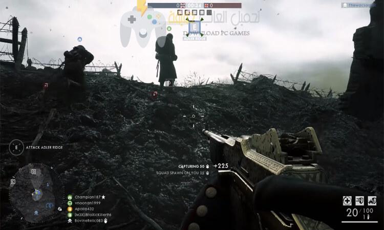 تحميل لعبة Battlefield 1 للكمبيوتر مضغوطة بحجم صغير