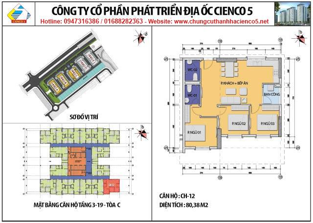 Sơ đồ thiết kế căn 12 chung cư B2.1 HH02C Thanh Hà Cienco 5