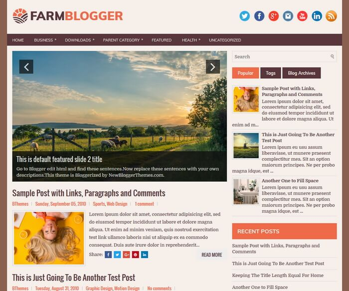 FarmBlogger Blogger Template