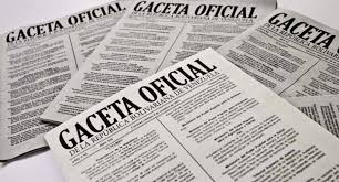 Consulte SUMARIO de Gaceta oficial Nº 41281