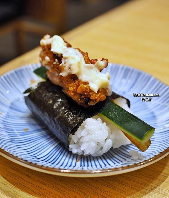 Our Own Sushi Creation - Karaage Sushi