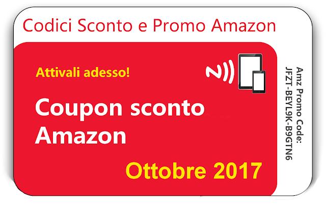 Offerte Amazon e Coupon Ottobre 2017