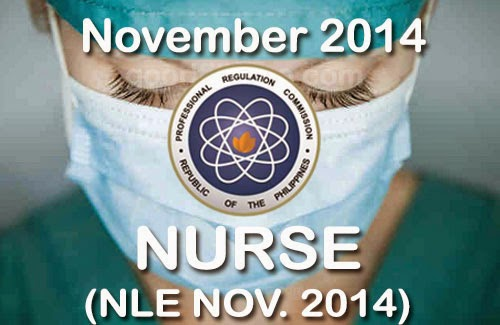 November 2014 NLE Results - Nurse Licensure Examination Nov. 2014