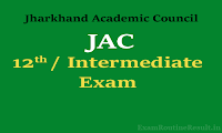 jac 12th time table 2018  jharkhand Intermediate exam date 2018