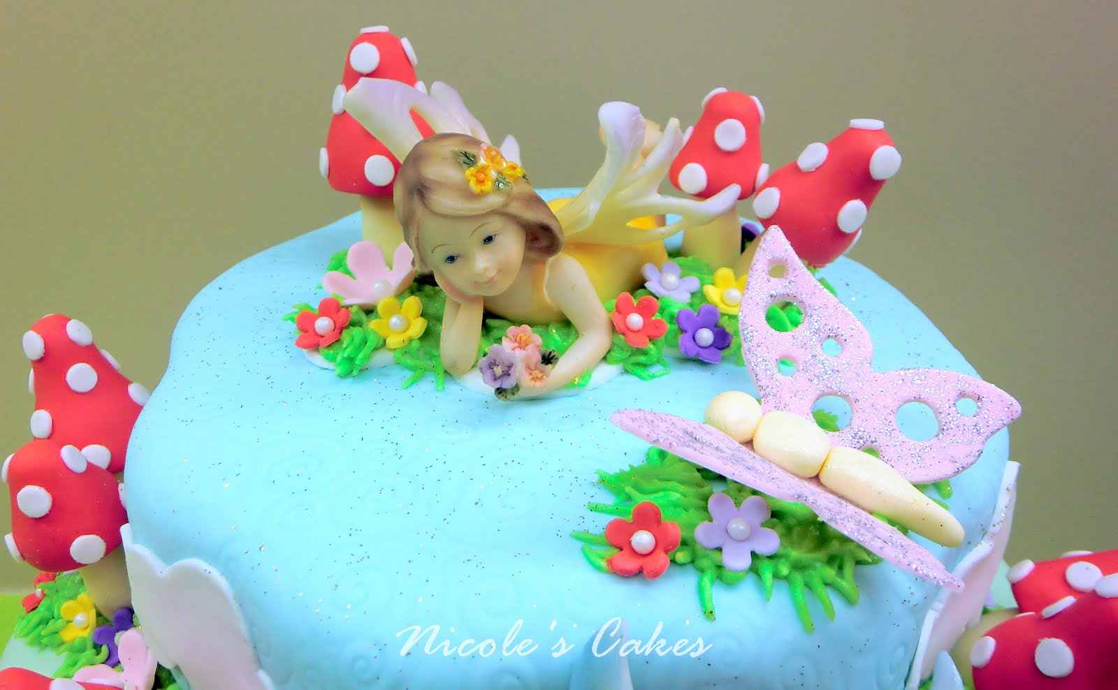 On Birthday Cakes A Fairy Garden Cake
