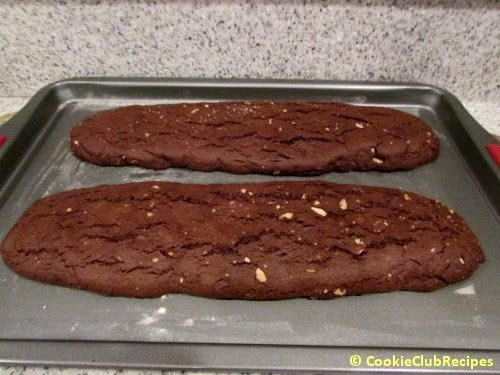 baked biscotti dough