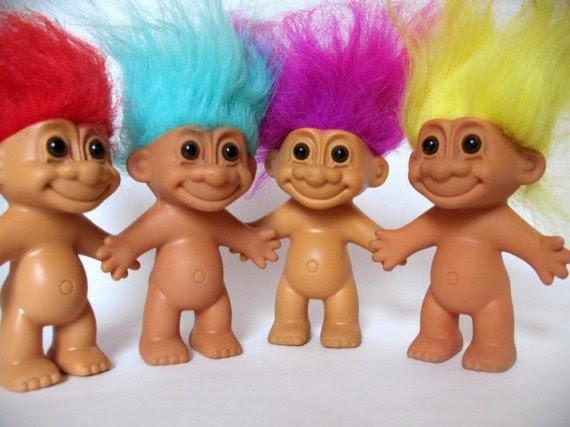 Pupazzetti con capelli colorati anni 90