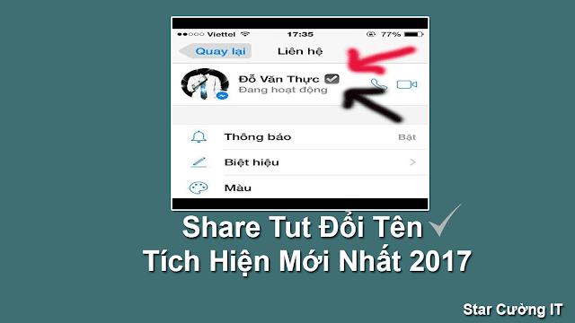 Share Tut Đổi Tên Tích Hiện Mới Nhất 2017
