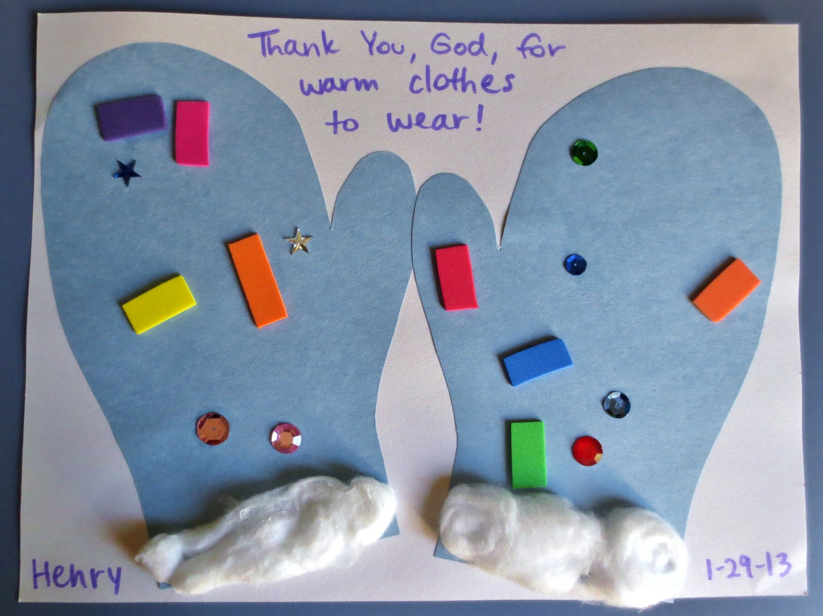 Snow Paper Craft For Kindergarten
