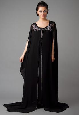 Fancy front open abaya design for girls 2017
