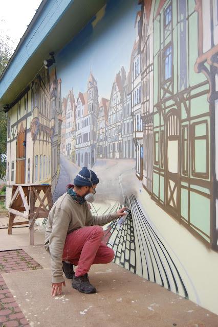 Роспись фасадов домов