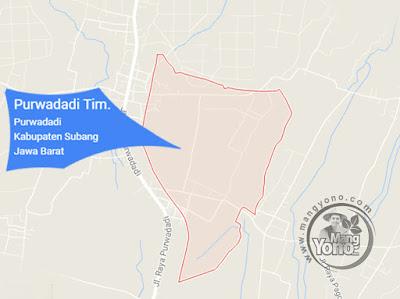 PETA : Desa Purwadadi Timur, Kecamatan Purwadadi