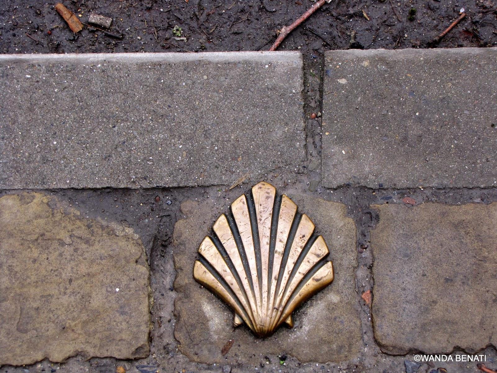 Conchiglia del Pellegrino sulle strade di Namur
