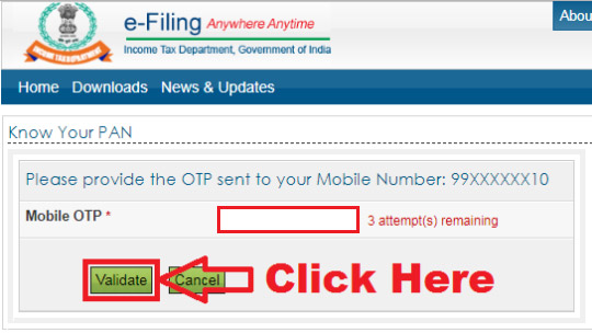 how to know your pan card number online