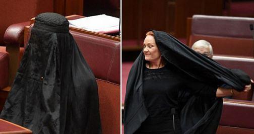 Picu Kemarahan Ratusan Ribu Muslim, Senator Australia ini Olok-olok Cadar di Depan Publik