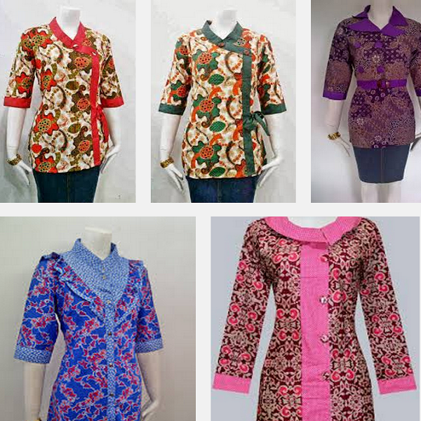 Model Baju Batik Atasan Wanita Terbaru Model Baju 2018