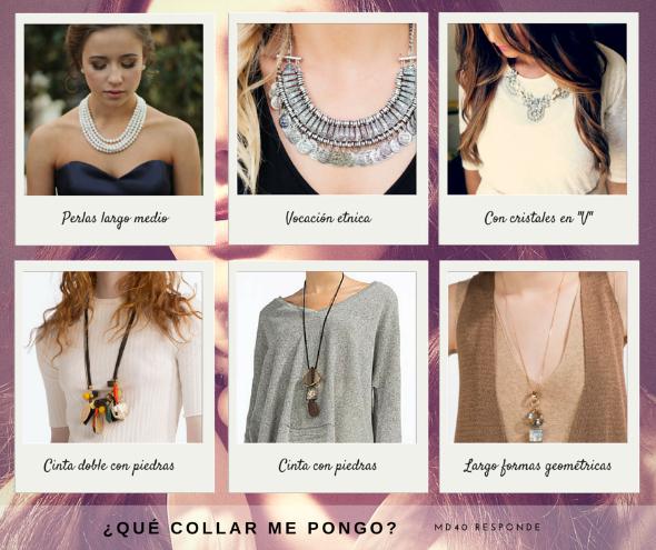 que collar elegir segun el escote consejos tips moda zara