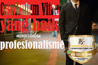 Jasa Pembuatan Curriculum Vitae CV Profesional