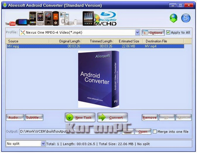 Aleesoft Android Converter 2.5.72 + Crack