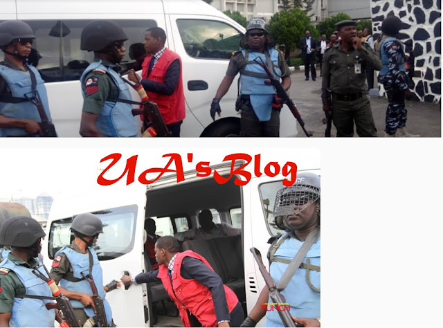 Fayose arrives court amidst heavy security(Photos)