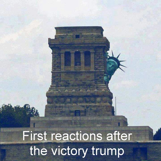 First reactions after the victory #trump