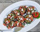 Roasted Eggplant Salad with Tomato-Caper Salsa