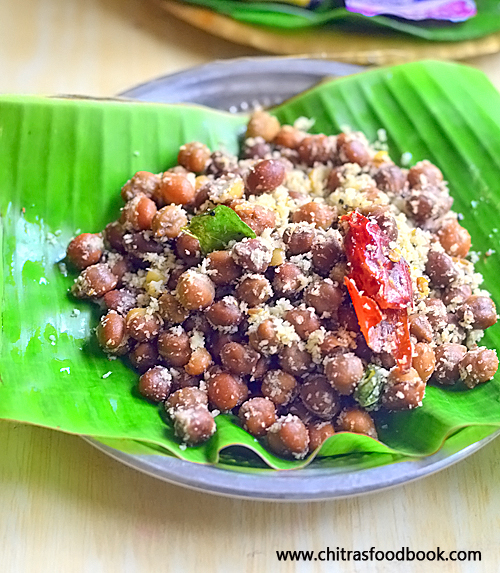 Kondakadalai sundal - Black chana sundal recipe