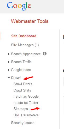 Blogger/Blogspot Sitemap In Google Webmaster Tools