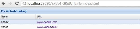 ExtJs 4 Grid Cell display URL link