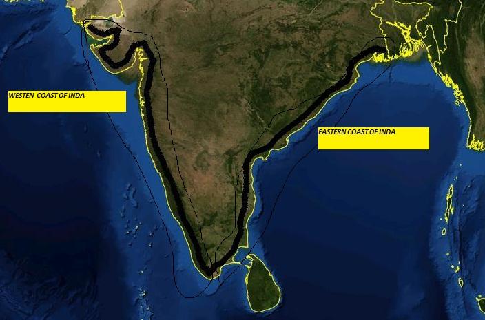 coasts of india