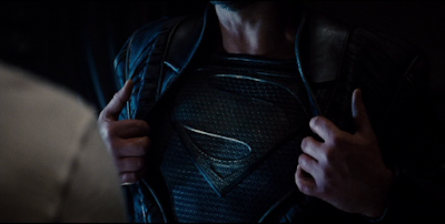 Jor-El gets to be the only character in the film to pull open his shirt & reveal the S-shield.