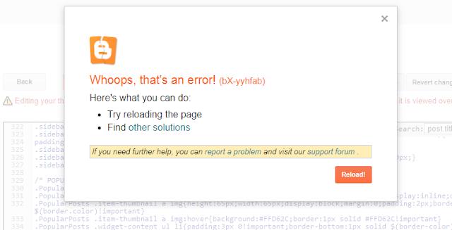 blogger theme editor whoops error