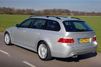 Rear View of the 2007 BMW 5-Series Touring (E61)
